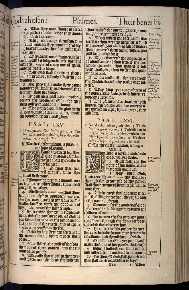 Psalms Chapter 64 Original 1611 Bible Scan