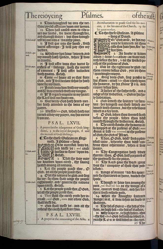 Psalms Chapter 66 Original 1611 Bible Scan