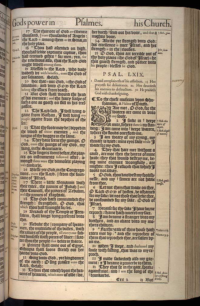 Psalms Chapter 68 Original 1611 Bible Scan