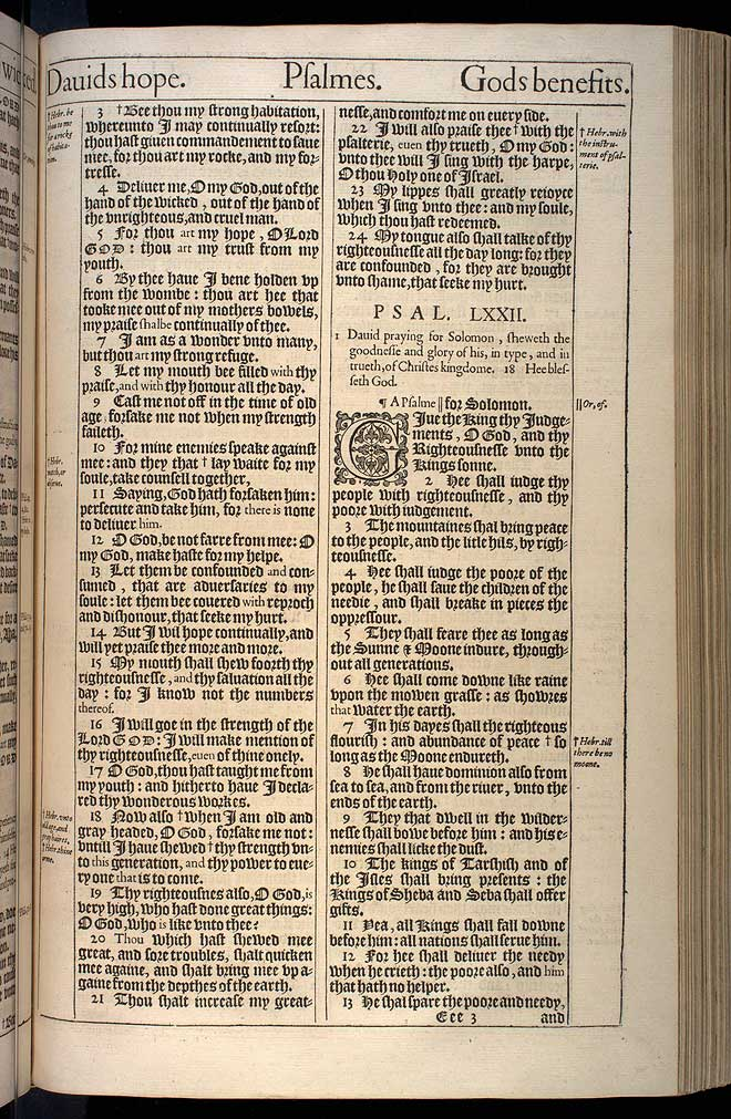 Psalms Chapter 72 Original 1611 Bible Scan
