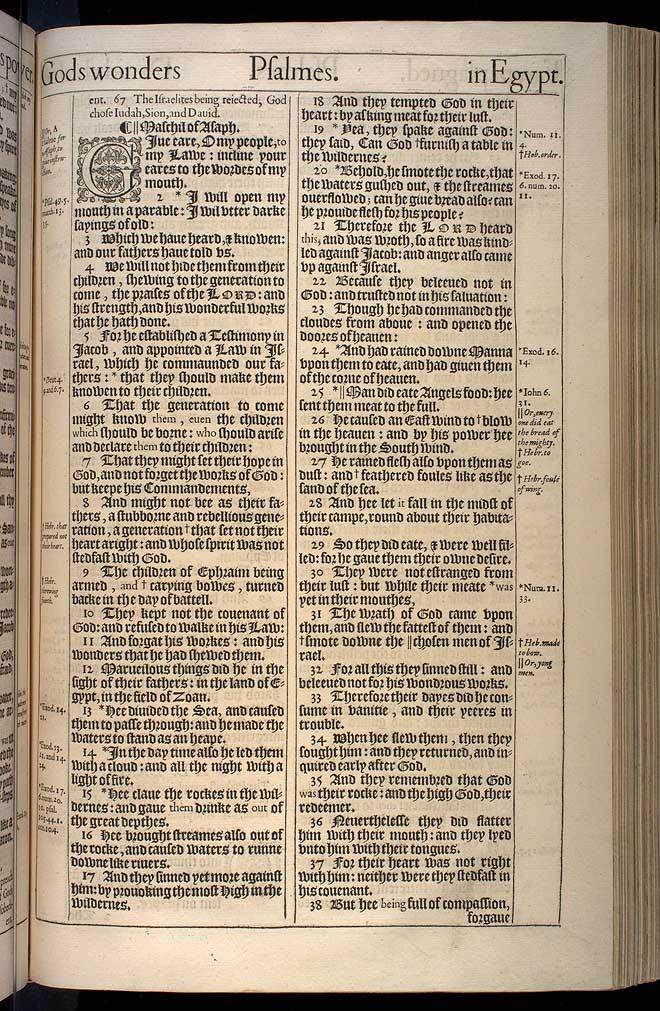 Psalms Chapter 78 Original 1611 Bible Scan