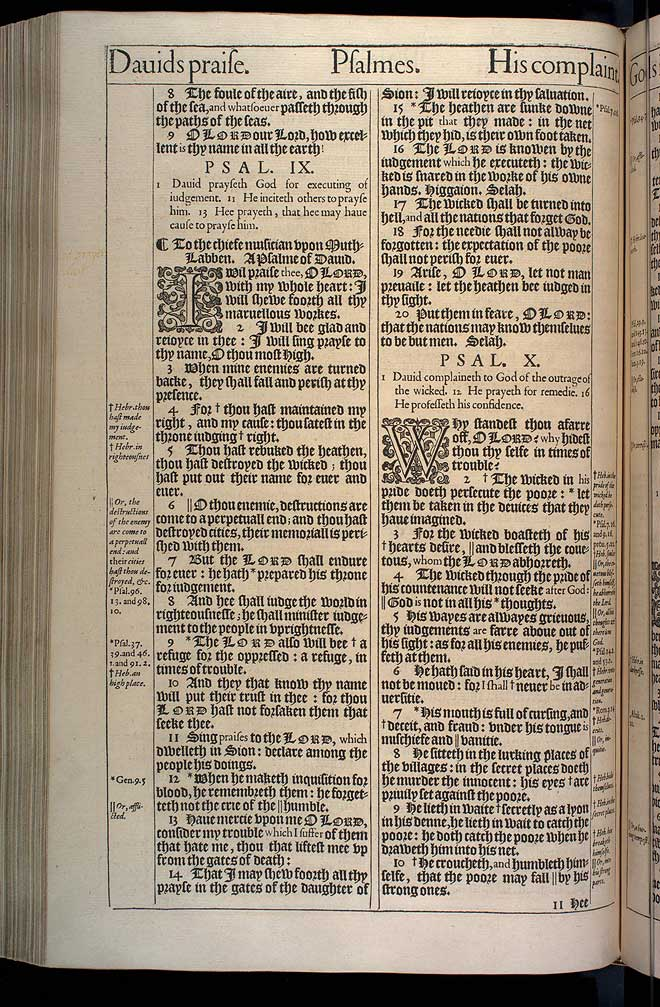 Psalms Chapter 9 Original 1611 Bible Scan