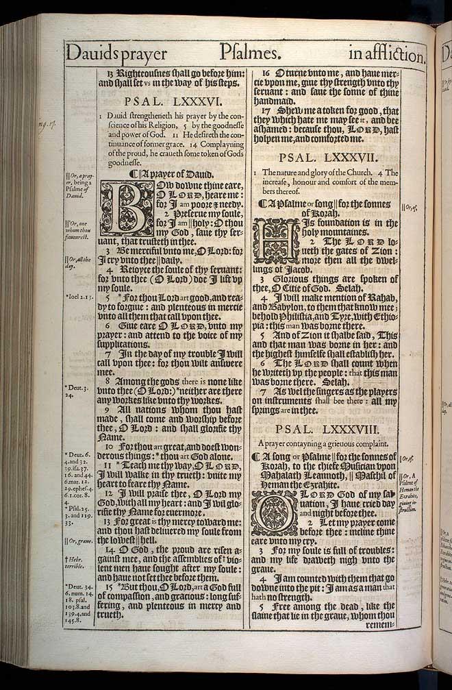 Psalms Chapter 86 Original 1611 Bible Scan