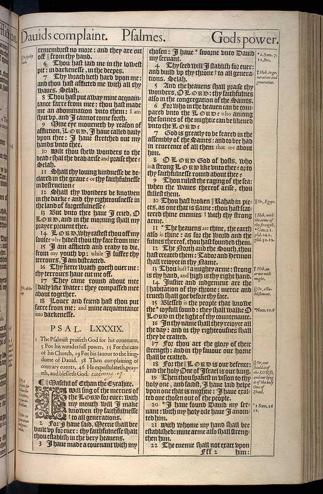 Psalms Chapter 89 Original 1611 Bible Scan