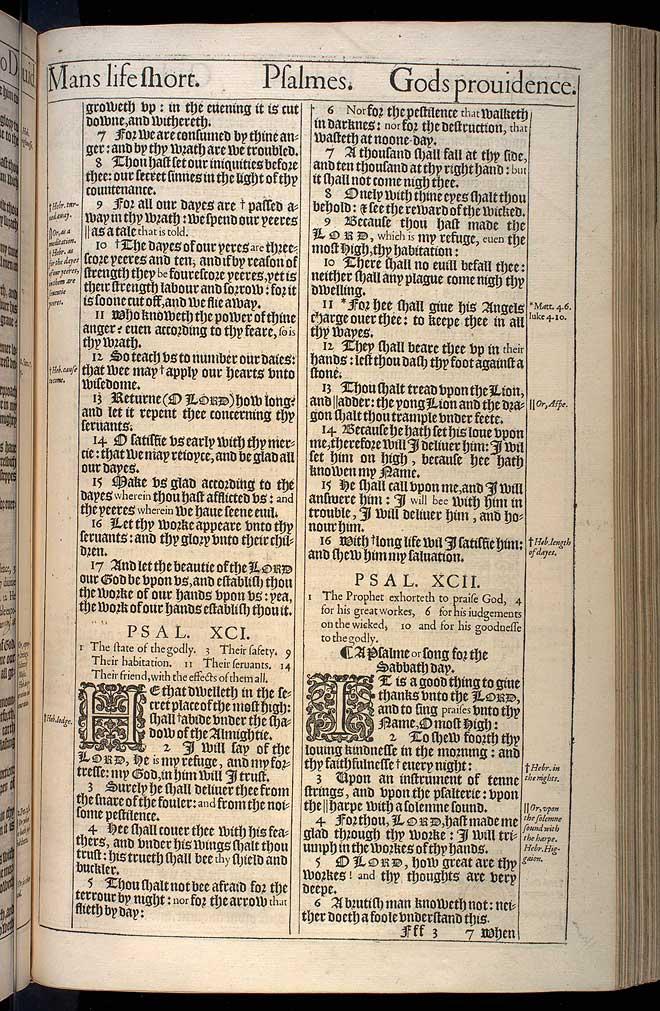 Psalms Chapter 91 Original 1611 Bible Scan