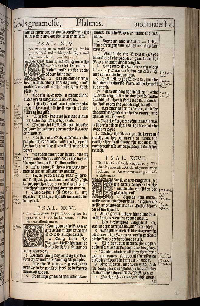 Psalms Chapter 96 Original 1611 Bible Scan