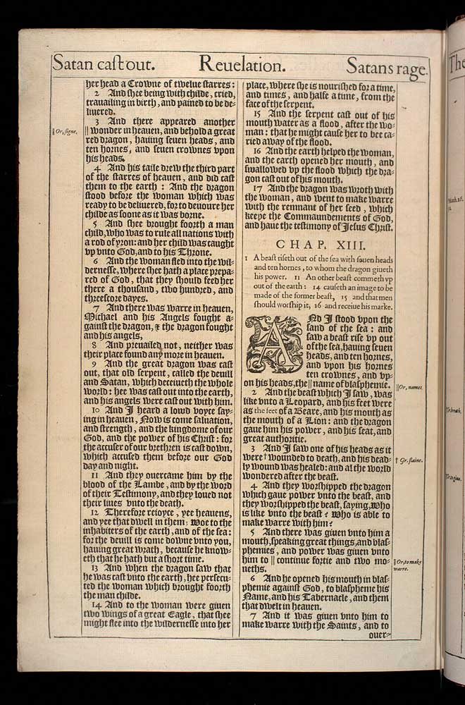Revelation Chapter 13 Original 1611 Bible Scan