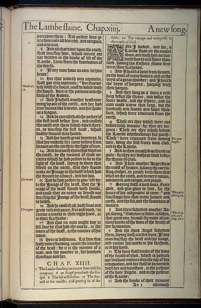 Revelation Chapter 14 Original 1611 Bible Scan
