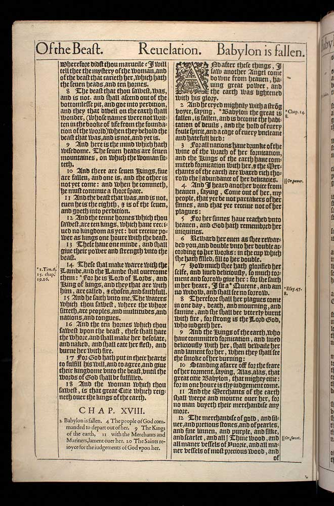 Revelation Chapter 17 Original 1611 Bible Scan