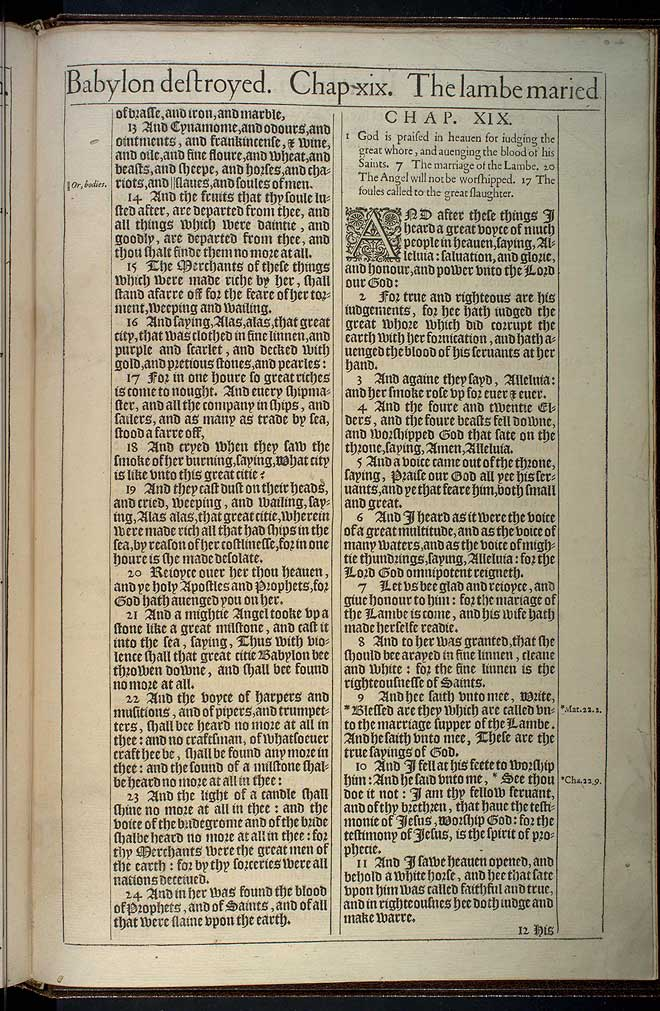 Revelation Chapter 19 Original 1611 Bible Scan