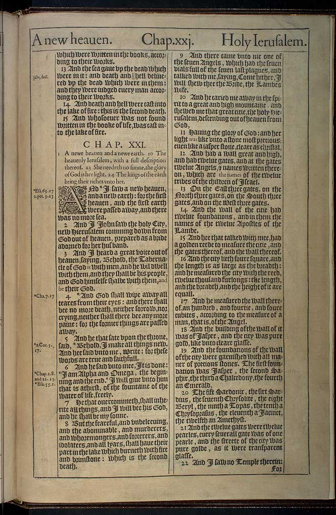 Revelation Chapter 20 Original 1611 Bible Scan