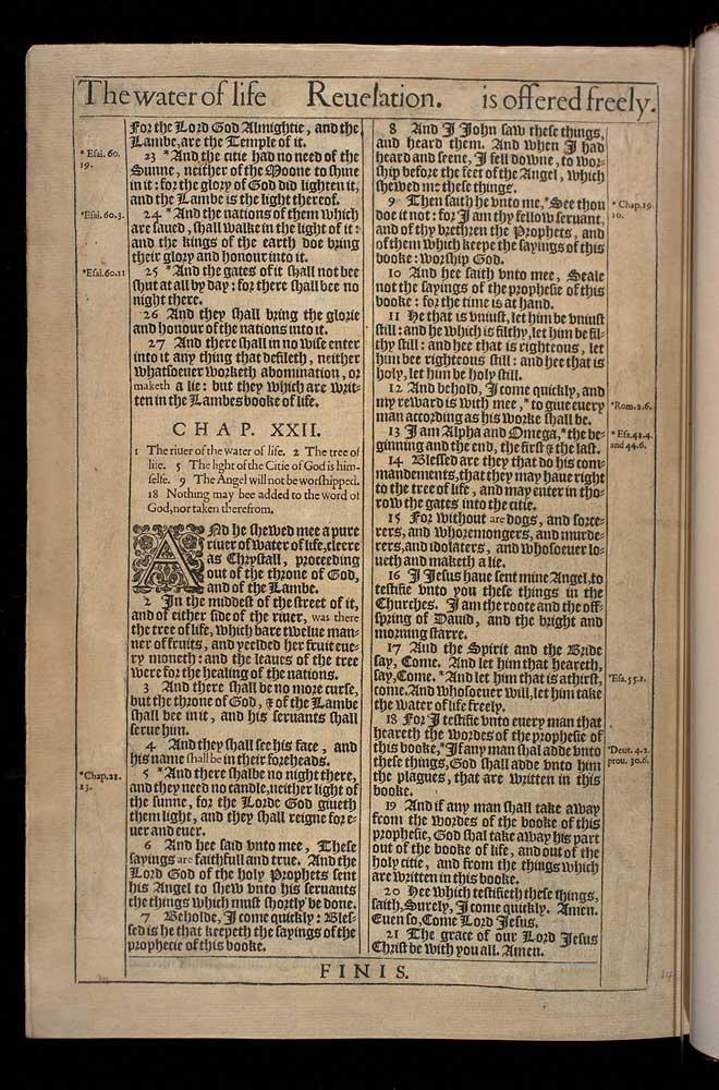 Revelation Chapter 22 Original 1611 Bible Scan