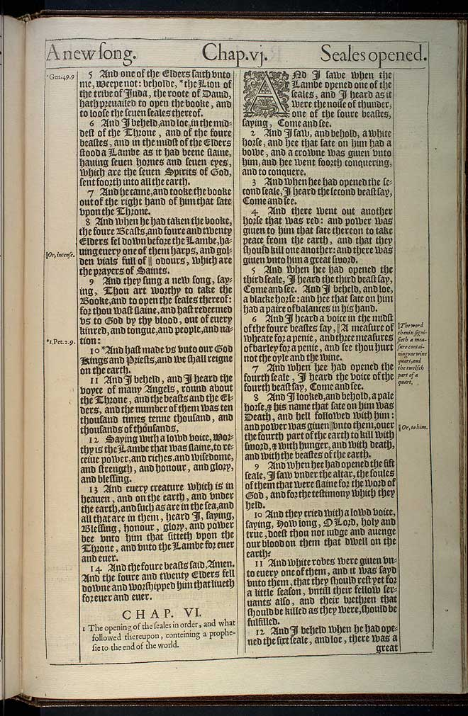 Revelation Chapter 5 Original 1611 Bible Scan