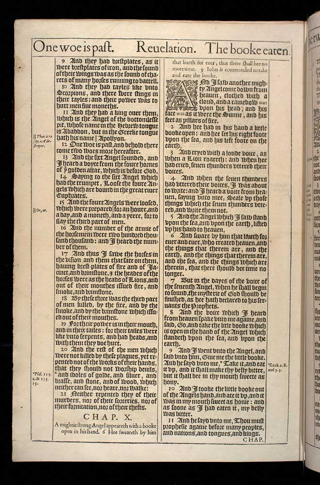 Revelation Chapter 10 Original 1611 Bible Scan