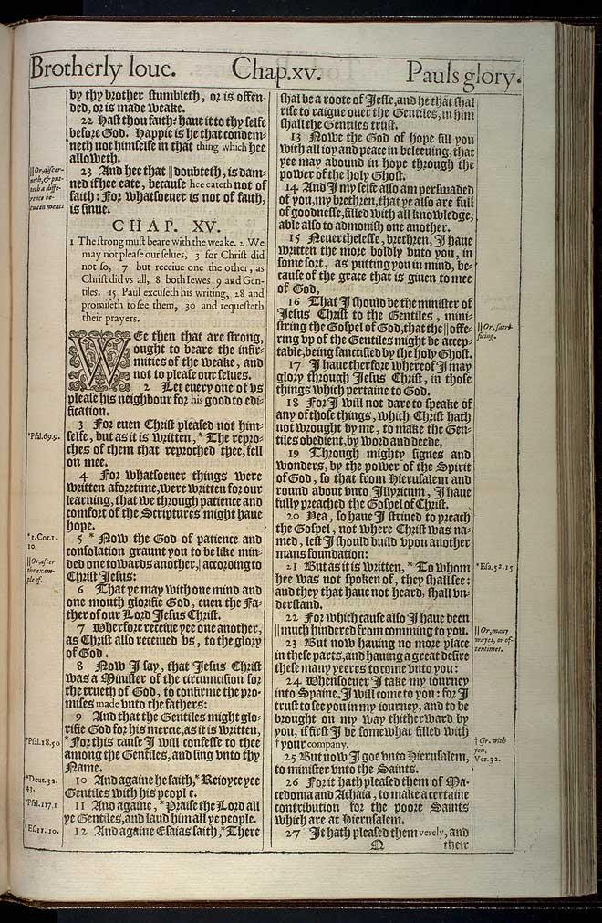 Romans Chapter 14 Original 1611 Bible Scan