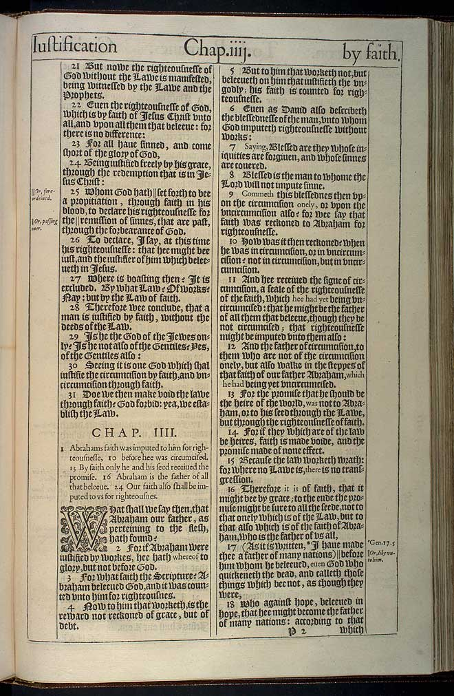 Romans Chapter 4 Original 1611 Bible Scan