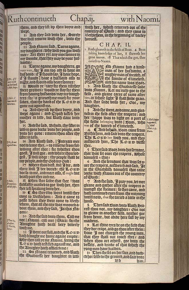 Ruth Chapter 1 Original 1611 Bible Scan