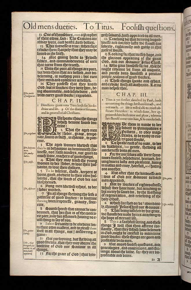 Titus Chapter 2 Original 1611 Bible Scan