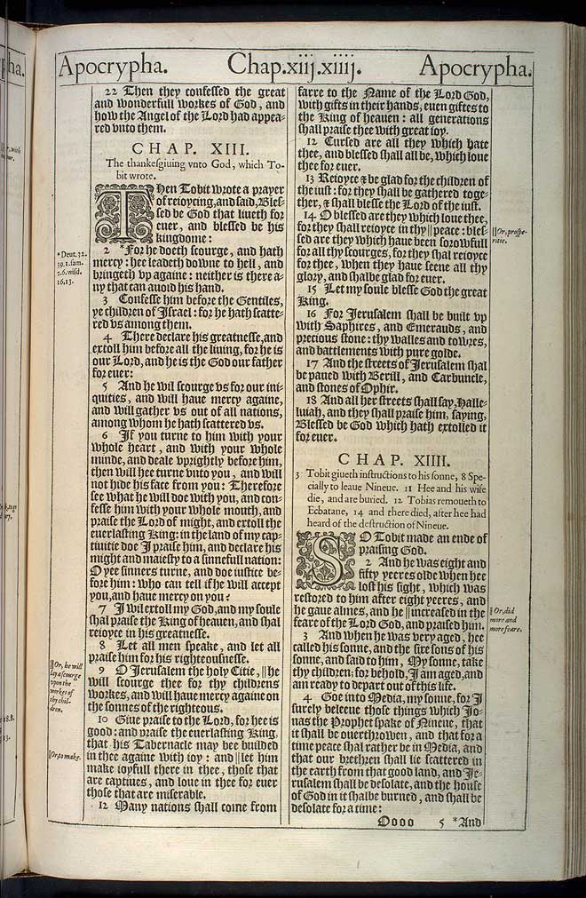 Tobit Chapter 12 Original 1611 Bible Scan