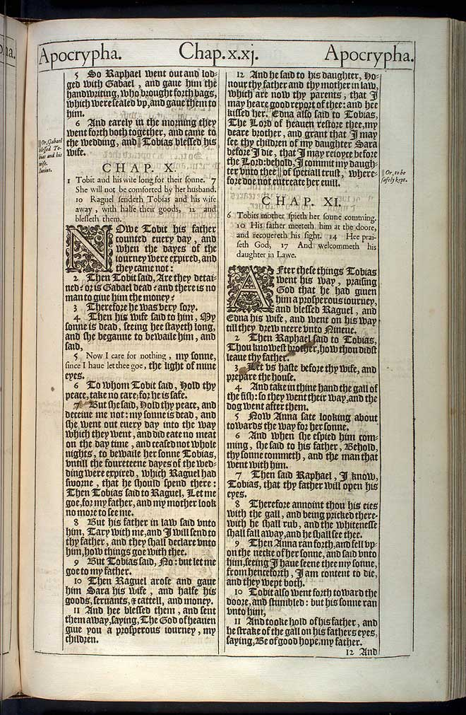 Tobit Chapter 10 Original 1611 Bible Scan