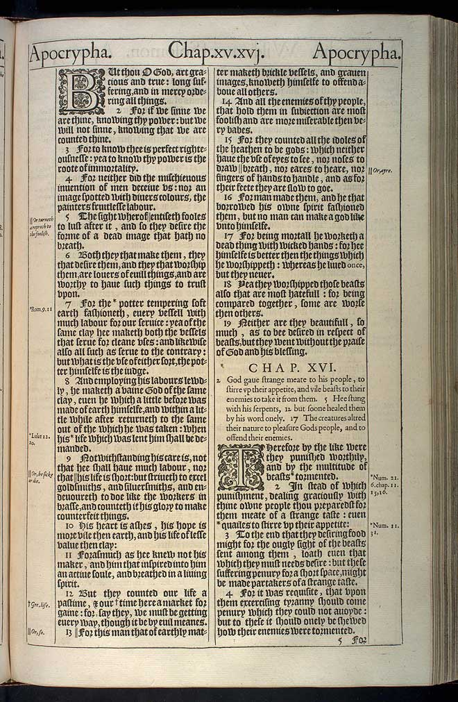 Wisdom of Solomon Chapter 16 Original 1611 Bible Scan