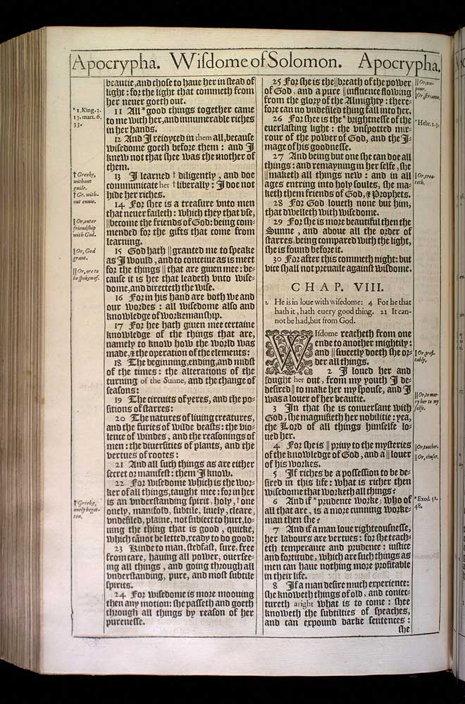 Wisdom of Solomon Chapter 7 Original 1611 Bible Scan