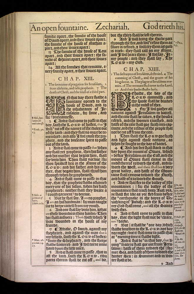 Zechariah Chapter 13 Original 1611 Bible Scan