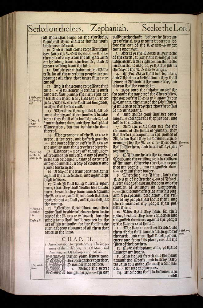 Zephaniah Chapter 1 Original 1611 Bible Scan
