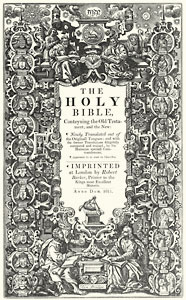 1611 King James Bible