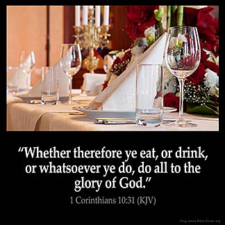 Inspirational Image for 1 Corinthians 10:31