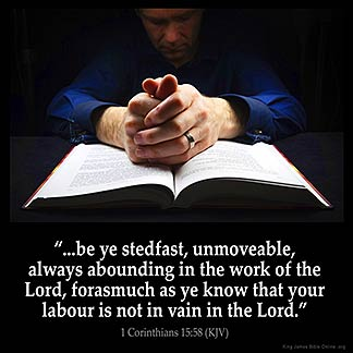 Inspirational Image for 1 Corinthians 15:58