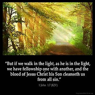Inspirational Image for 1 John 1:7