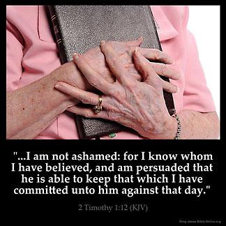 Inspirational Image for 2 Timothy 1:12