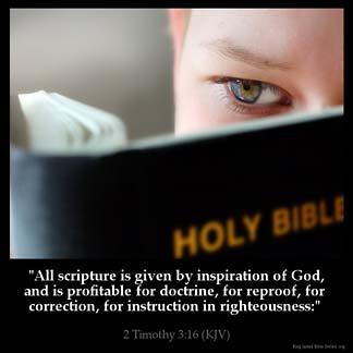 Inspirational Image for 2 Timothy 3:16