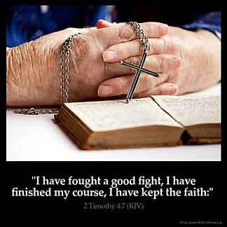 Inspirational Image for 2 Timothy 4:7
