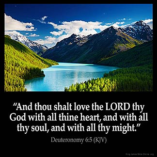 Inspirational Image for Deuteronomy 6:5