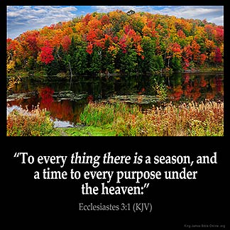 Inspirational Image for Ecclesiastes 3:1
