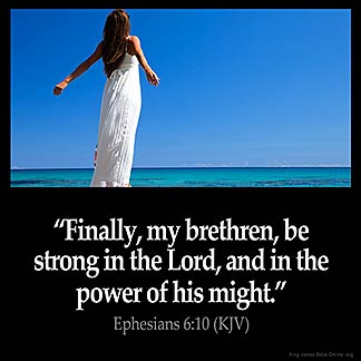 Inspirational Image for Ephesians 6:10