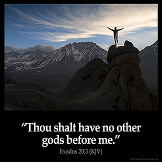 Inspirational Image for Exodus 20:3