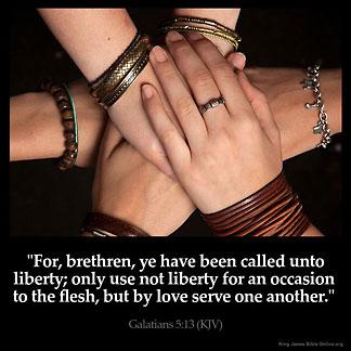 Inspirational Image for Galatians 5:13