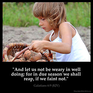 Inspirational Image for Galatians 6:9