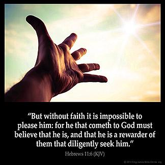 Inspirational Image for Hebrews 11:6
