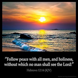 Inspirational Image for Hebrews 12:14