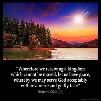 Inspirational Image for Hebrews 12:28