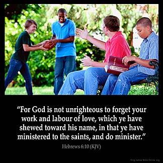 Inspirational Image for Hebrews 6:10