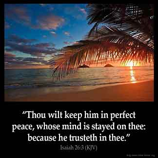 Inspirational Image for Isaiah 26:3