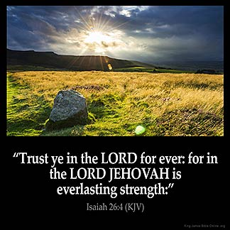 Inspirational Image for Isaiah 26:4