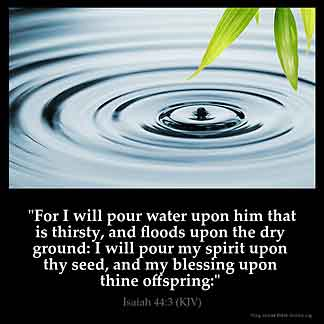 Inspirational Image for Isaiah 44:3