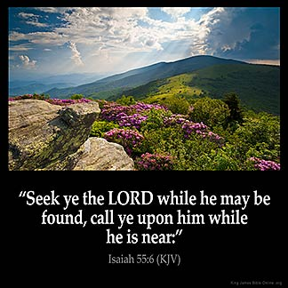 Inspirational Image for Isaiah 55:6