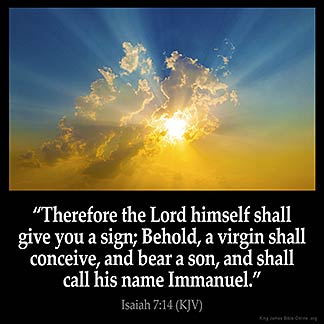 Inspirational Image for Isaiah 7:14